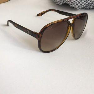 Gucci Brow Bar Aviator Sunglasses, 60mm